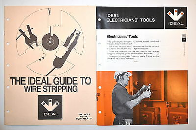 2 Pc The Ideal Guide To Wire Stripping & Ideal Electrician Tools Brochure #rr688
