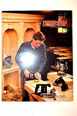 PORTER-CABLE PROFESSIONAL POWER TOOLS 1989 CATALOG #RR969 drill saw grinder