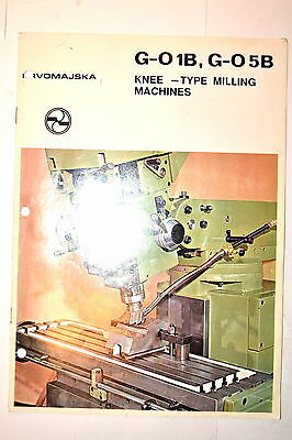 PRVOMAJSKA G-01B G-05B KNEE TYPE MILLIMG MACHINES CATALOG #RR905 machinist