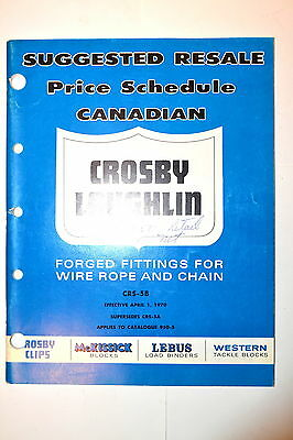 CANADIAN CROSBY LAUGHLIN FORGED FITTINGS 4 Chain and Wire Rope Catalog #RR439