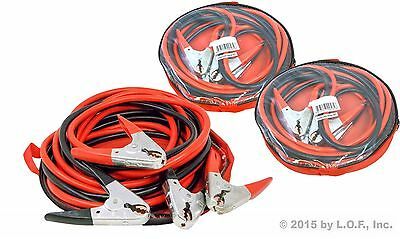 3 Pack Commercial Heavy Duty 20 FT 2 Gauge Booster Cable Jumping Cables Power