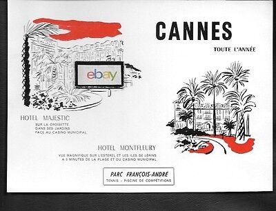 Hotel Majestic Cannes & Hotel Montfleury French 1964 Ad