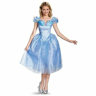 Disguise Women's Cinderella Movie Adult Deluxe Costume, Blue, Small New
