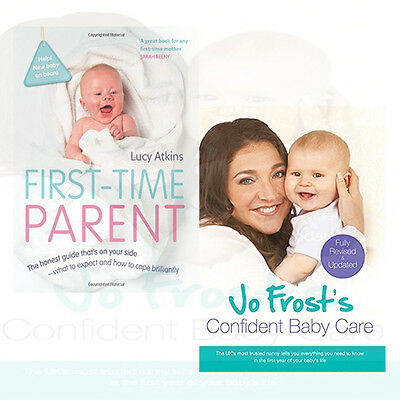 First-Time Parent Collection 2 Books Set Jo Frost's Confident Baby Care, New