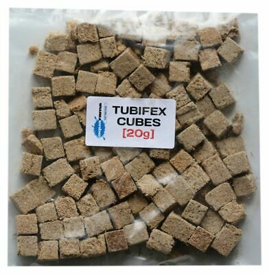 High Quality Freeze Dried Tubifex Worm CUBES Tropical Aquarium Fish Food [20g]
