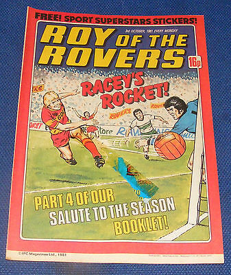 Roy Of The Rovers Comic 3Rd October 1981 Peter O'sullivan Of Brighton & Hove