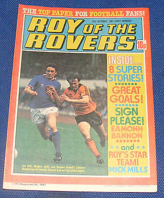 Roy Of The Rovers Comic 31St October 1981 Eamonn Bannon Of Dundee United