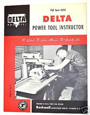 ROCKWELL DELTA POWER TOOL INSTRUCTOR: FALL ISSUE 1956 V.6 N.2 #RR64 Book Manual