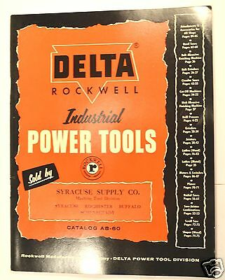 1960 Delta Rockwell Industrial Power Tools Catalog Ab-60 #rr37 Saw Lathe Drills