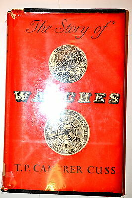 THE STORY OF WATCHES by CUSS first edition 1952 #RB157 watchmaker jeweler