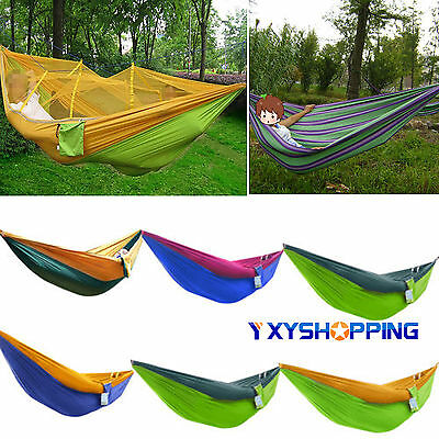 Hammock With Mosquito Net Outdoor Camping High Strength Parachute Fabric Jungle