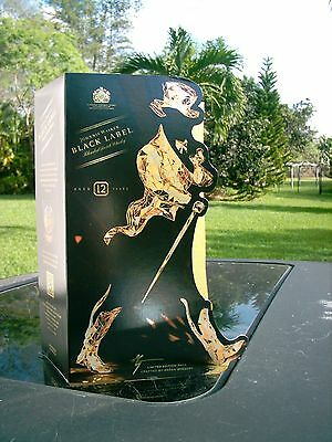 Johnnie Walker Black Label Scotch 'WALKING MAN' 2015 CHRISTMAS GIFT BOX MAN CAVE