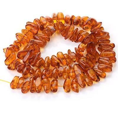 16 inch 7x13mm Honey Brown Synthetic Amber Irregular Chip Gemstone Loose Beads