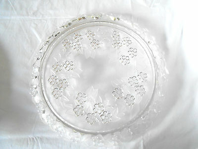 Mikasa frosted glass cake plate, stand