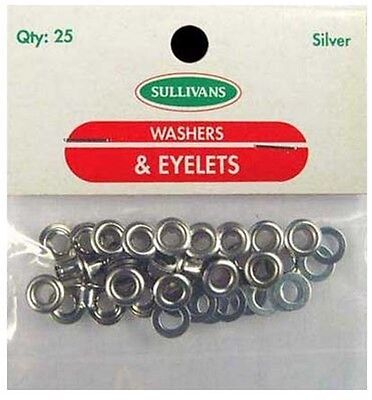 4mm Silver Eyelets 25 Pack