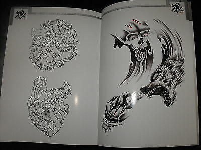 tattoo flash design book of wolfs aprox a3 in size nice book with lines 72 pages