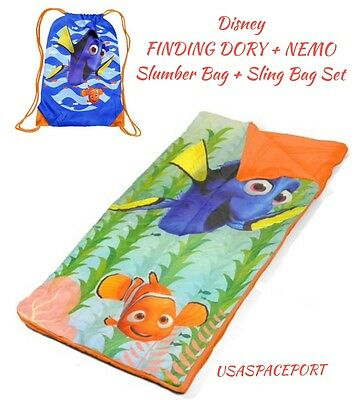 Disney FINDING DORY Nemo NAP MAT Toddler Slumber+Sling Bag Set Preschool Daycare