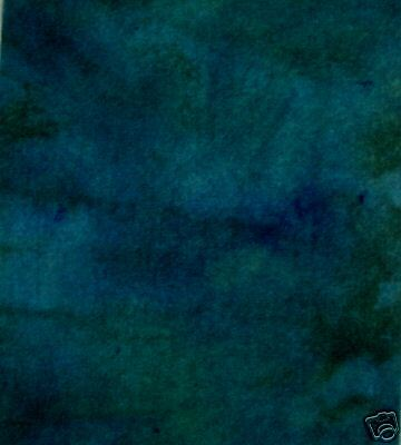 Green Ice Wandering And Dyed Rug Hooking Wool 1/4 Yard