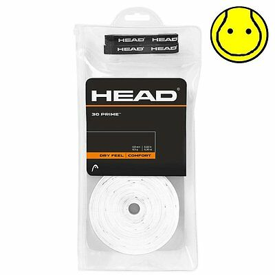 New Head Prime Overgrip 30 Pack Tennis Over Grip - Comfort -  White