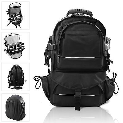 Multifunctional Travel Backpack Camera SLR Case Bag For DSLR Canon Nikon Sony UK