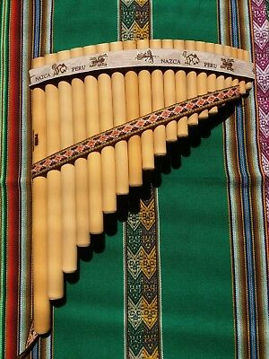 Professional Blas Panflute 20 Pipes - From Peru- See Video-Case Included