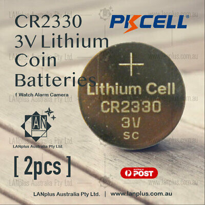 2X PKcell CR2330 3V Lithium Battery STOCK IN Melbourne Button Coin Cell CR-2330