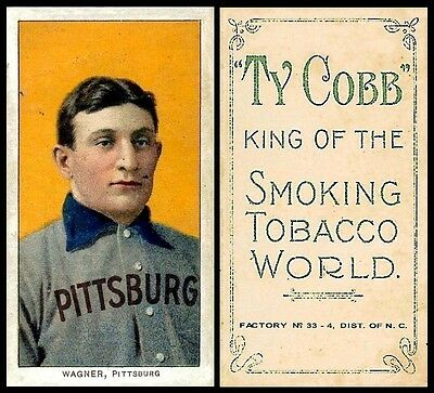 LOT of 25 REPRINT 1909 T206 HONUS WAGNER Ty Cobb back AGED LOOK