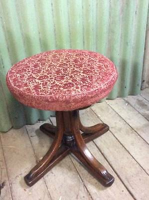 A Vintage Bentwood Revolving Piano Stool