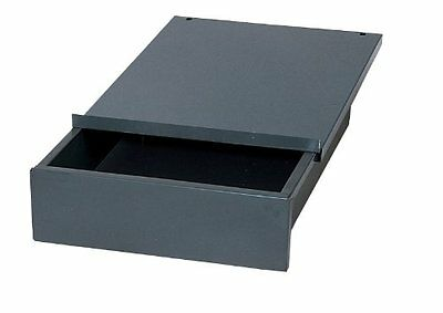 "Edsal WD1218 Industrial Gray Steel Bench Drawer, 4"" Height x 12"" Width x 18"" New"
