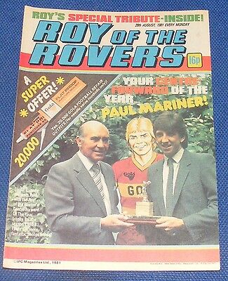 Roy Of The Rovers Comic 29Th August 1981 Sign Please - Jeff Wealands