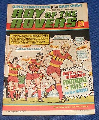 Roy Of The Rovers Comic 5Th September 1981 Sign Please - Gary Shaw Of Aston Vill