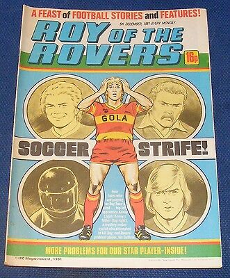 Roy Of The Rovers Comic 5Th December 1981 Sign Please - Dai Davies