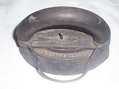 Vintage Cast Iron Stove Top Iron With Removable Wooden Handle