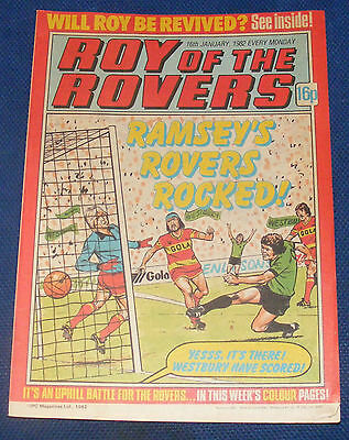Roy Of The Rovers Comic 16Th January 1982 Sign Please - Paul Walsh