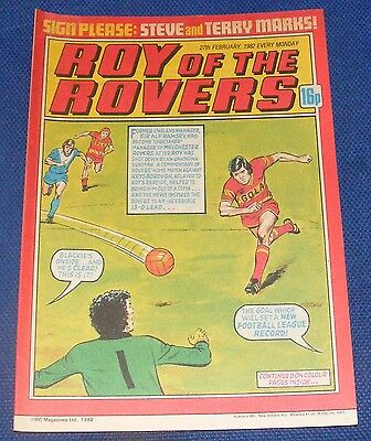 Roy Of The Rovers Comic 27Th February 1982 Sign Please - Steve And Terry Marks