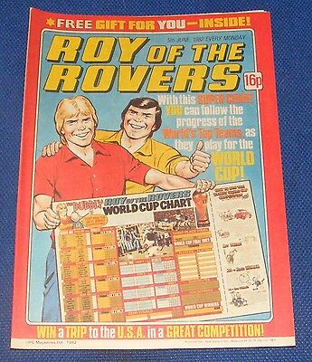 Roy Of The Rovers Comic 5Th June 1982 Sign Please - Craig Johnston