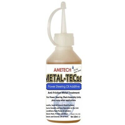 NEW! AMETECH METAL-TEC10 ANTI-FRICTION POWER STEERING OIL ADDITIVE - 100ml