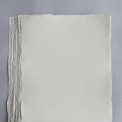 Khadi White Cotton Paper Pack 320gsm A3 100 Sheets. Artists Handmade Paper.