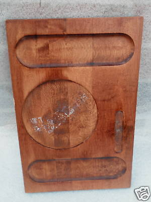 Baribocraft Canada Cheese Serving Board 14in Maple Wood Teak Stain 1970s Vtg