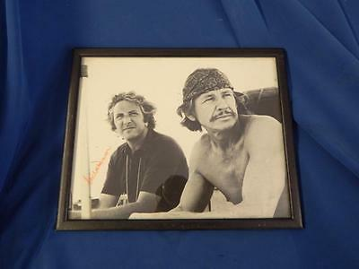 Signed picture of Iconic Charles Bronson and Michael Winner