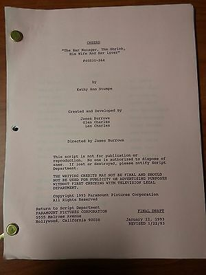 1993 Cheers Scripts Many Episodes To Choose From