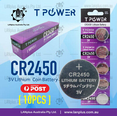 10 x CR2450 3V Lithium Battery STOCK IN Melbourne Button Coin Cell CR-2450