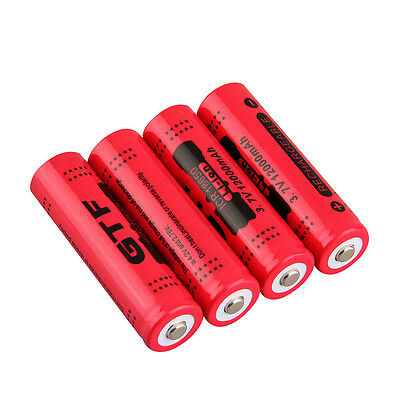 18650 3.7V 12000mAh Rechargeable Li-ion Battery for LED Torch Flashlight AI