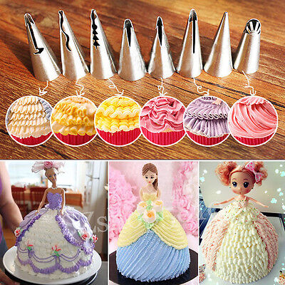 7pcs/set Russian Flower Icing Piping Tips Nozzle Cake Cupcake Decorating Pastry