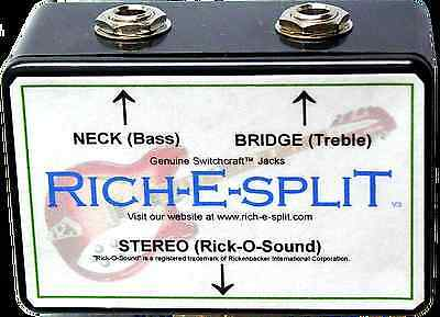Rich-E-Split - Rick-O-Sound (Rickenbacker) Stereo Signal Split Box - NEW!