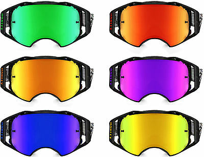 GOGGLE-SHOP REPLACEMENT MIRROR Goggle LENS to fit OAKLEY AIRBRAKE MOTOCROSS MX