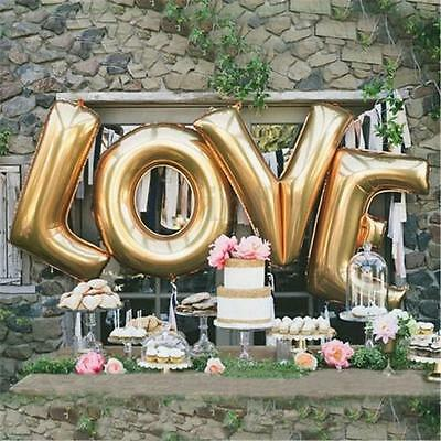 30''/40'' LOVE Letter Foil Helium Wedding Balloons Gold Engagement Party Decor
