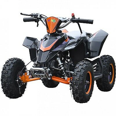 Rebo LT50A Kids Mini 49cc 2-stroke air cooled Petrol Quad Bike ATV - Orange