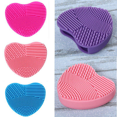 Silicone Makeup Brush Cleaner Washing Scrubber Board Cosmetic Cleaning Mat Pad W