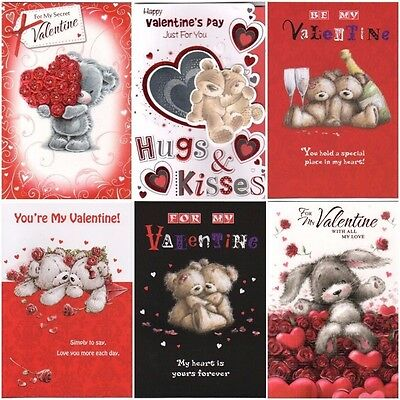 Happy Valentine's Day Just For You Card - Various Designs BGC385 SE